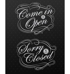 Image of various open and closed business vector