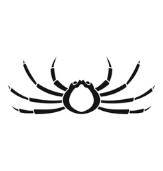 Japanese spider crab icon simple style vector image