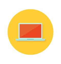 Lapton icon over orange vector image