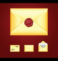mail sealing wax vector image