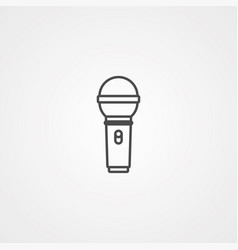 Microphone icon sign symbol vector