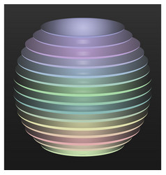 multicolored disc sphere vector image