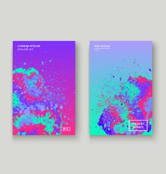 neon splash artistic cover design fluid vector image