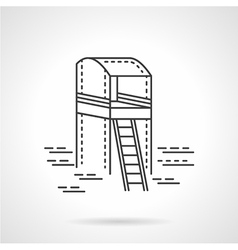 Observation tower line icon vector image