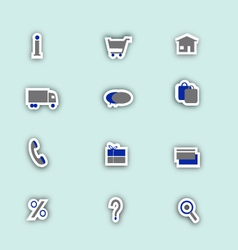 Online shoping icons collage vector image