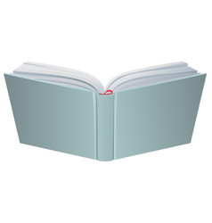 open book hardcover 3d realistic vector image