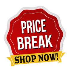 Price break label or sticker vector