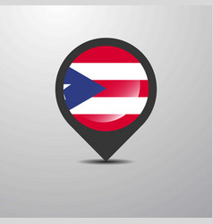 puerto rico map pin vector image