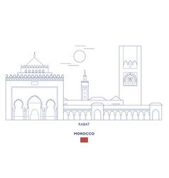 Rabat city skyline vector