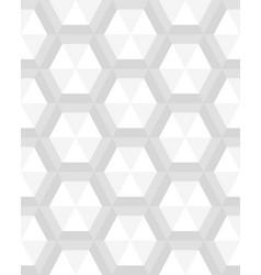seamless gray hexagon vector image