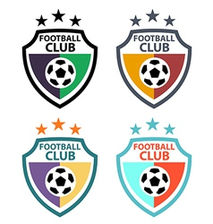 set badges and labels soccer football club vector image