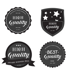 set of high best quality round emblem vector image