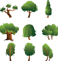 Set of trees - summer vector image