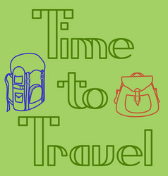 text-time to travel-3 vector image