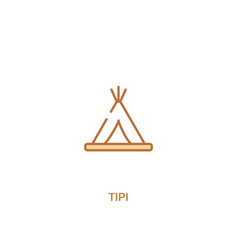 Tipi concept 2 colored icon simple line element vector