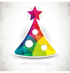Triangle Christmas tree background vector image