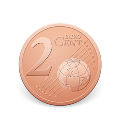 Two euro cent coin vector
