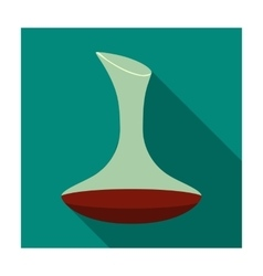 Wine decanter icon in flat style isolated on white vector image