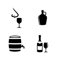 Wine making sommelier simple related icons vector