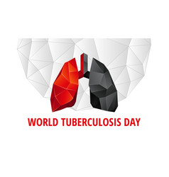 World tuberculosis day background vector