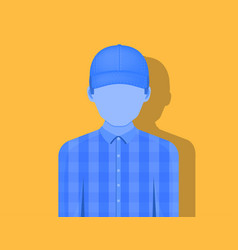 young man in a cap emotionless the shadow falls vector image