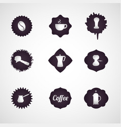 coffee logo design icon set vector image vector image