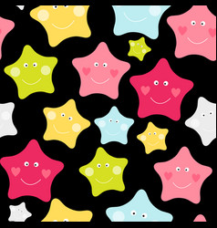 cute children s seamless pattern background with vector image