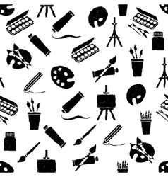 Doodle arts seamless pattern vector