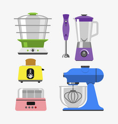 home appliances cooking kitchen home equipment and vector image vector image