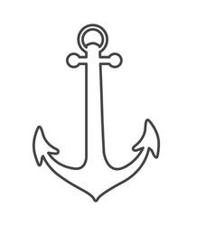 sketch silhouette anchor icon design vector image vector image