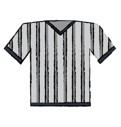 Drawing jersey referee american football vector