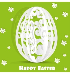 Happy Easter egg openwork appliques postcard vector image vector image