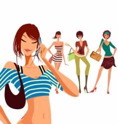 Sexy fashion model illustrations vector