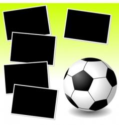 soccer photo adventure vector image vector image