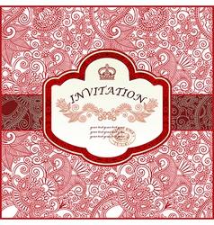 vintage ornamental invitation vector image
