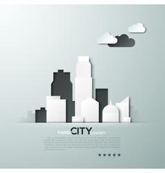 White paper city concept vector image