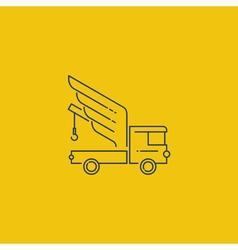 Breakdown truck with wings line logo concept vector image vector image