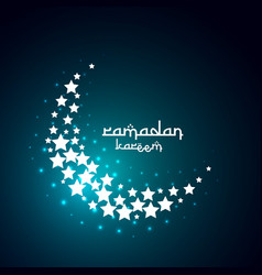 creative moon design create with stars vector image