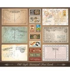distressed postcards vector image vector image