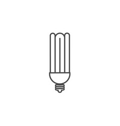 eco powersave lamp line icon saving electricity vector image