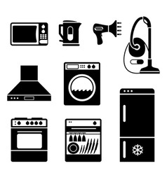 household icons vs vector image vector image