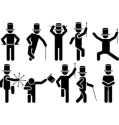 ICONS MAN SHOW vector image vector image