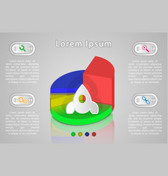 infographics for presentation schedule vector image