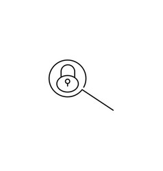 lock search line icon vector image vector image