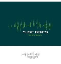 Music beats logo vector image vector image