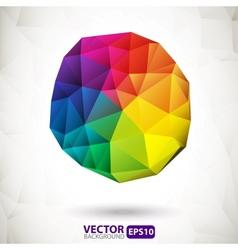 Polygonal sphere design element vector image