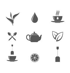 Tea Icon set vector image vector image