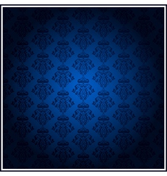 vintage blue wallpaper vector image