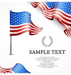 American flag banners with vector image