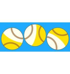 Baseballs vector image vector image